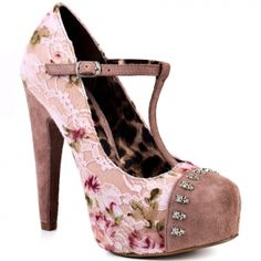 Betsey Johnson Mortica Blush- girly and cute with the tiny skulls