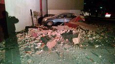 Downtown Napa damage from the South Napa quake. (CBS)