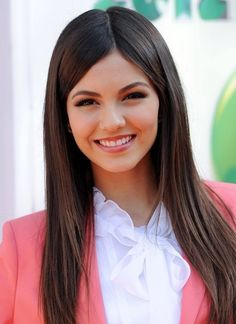 Victoria Justice, Cute, Long Straight Hair Styles