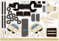 Voici le papertoy d'une 2CV Citroën, déclinée en 3 coloris. Surnommée «deudeuche», cette voiture a véritablement imprimé la mémoire collective et possède des admirateurs dans le monde entier. Comme au Japon, d'ou nous vient l'auteur de ce papercraft. Une hommage…