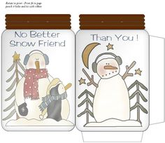 Jar Gift Packet No Better Snow Friend Than YOU - 922x800px