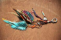 The Original Gypsy Dreamcatcher Feather Purse Charm. $18.00, via Etsy.
