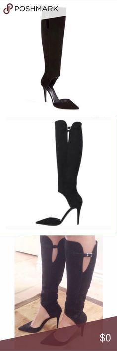 Tamara Mellon Criminal Boots Coming Soon Sexiest boots on the planet. Authentic Tamara Mellon suede cut out boots. All sold out everywhere except my Posh closet. Tamara Mellon Shoes Heeled Boots