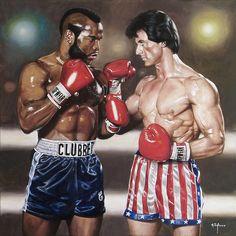 Rocky Balboa vs Clubber Lang by agusgusart on DeviantArt Rocky Balboa, Silvester Stallone, Mr T, Cinema, Star Wars, Mike Tyson, Cultura Pop, Bruce Lee, Christian Wallpaper