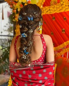 that Indian Wedding Hairstyles, Easy Hairstyles For Long Hair, Hairstyles For Round Faces, Messy Hairstyles, Amazing Hairstyles, Front Hair Styles, Medium Hair Styles, Medium Hair Round Face, Hairstyle For Chubby Face