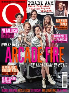 Arcade Fire are on the cover of Q338 - out 29 July 14