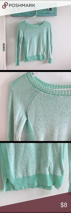 mint green sweater Mint green sweater SO Sweaters Crew & Scoop Necks