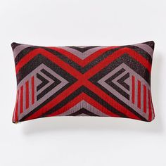 Beaded Reflected Diamond Pillow Cover | west elm