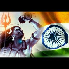 Lord Shiv Ji with The Indian Flag, Beautiful