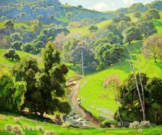 William Wendt The Mantle Of Spring oil painting reproductions for sale #OilPaintingScenery #OilPaintingClassic