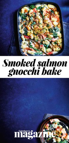 This luxe smoked salmon gnocchi bake recipe has a creamy prosecco sauce that makes this a super-special dish. Baked Gnocchi, Gnocchi Recipes, Pasta Recipes, Baking Recipes, Dinner Recipes, Dinner Ideas, Salmon Recipes, Fish Recipes, Amigurumi