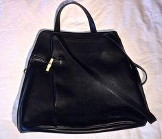 Longchamp Roseau Leather Shoulder Bag  Purse Black with Dust Bag   JB0497 #Longchamp #BucketBag