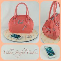 Elements of my handbag cake