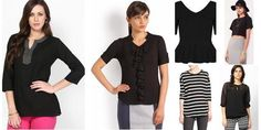 """Black Beauty!"" Awesome list on #tops #solid by @garimalsr #fashion"