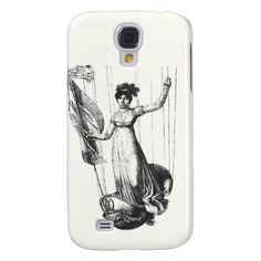 Woman in Vintage Balloon Basket iPhone Case Galaxy S4 Covers