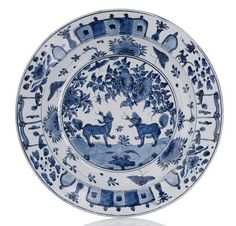 Blue and White porcelain export dish for the Portuguese market, China, Wanli period, ca. 1590