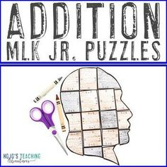 ADDITION Martin Luther King Jr Activities | Black History Month Projects | 1st, 2nd, 3rd grade, Activities, Black History Month, Games, Homeschool, Martin Luther King Day, Math, Math Centers