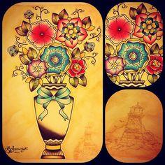Traditional feminine tattoos