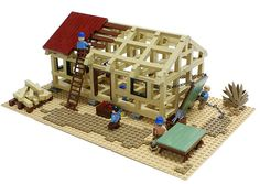 Lego. Building a building.