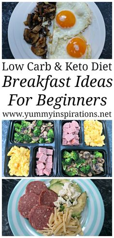 Keto Diet Beginners Breakfast Ideas - Recipes and Inspiration for low carb breakfast meals - including with and without eggs and ideas for on the go too.