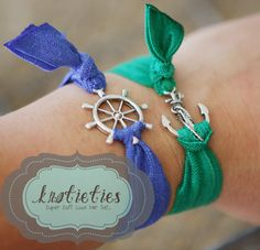 Elastic Ribbon, Elastic Hair Ties, Jewelry Crafts, Handmade Jewelry, Unique Jewelry, Ship Wheel, Hair Beads, Diy Schmuck, Love Bracelets