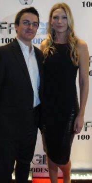 Anna Torv with a reporter. 'FRINGE' 100 EP WRAP PARTY!