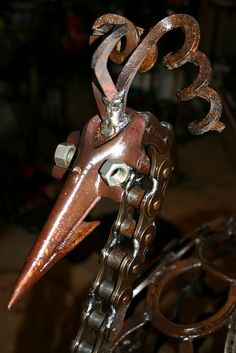 welded up farm scrap metal