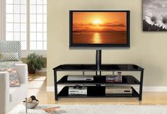 Amazon.com - InnovEx 255 Stanford TV Stand, Black -