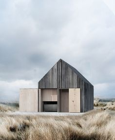 archatlas:  Boat House WE Architecture Office   The boat house is located on the beach 20 metres from the water edge in the beautiful surroundings at Svallerup Strand, Denmark.The boat house is aimed at being very simple and practical at the same time. Cedar wood is used for the construction due to its ability to withstand the elements and its fantastic silver grey patina. The boat house is build with no windows in order to keep the clean lines of the building intact. The…