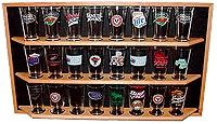 Pint Beer Glass Display Shelf Order Page - Display Shack - Collectable Cases Racks & Shelving