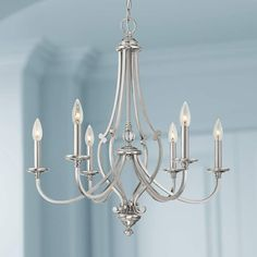 "Savannah Row 26""W Brushed Nickel 6-Light Chandelier - #9W299 
