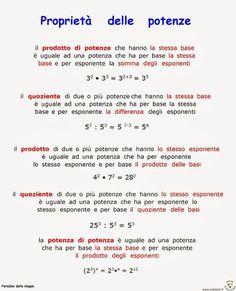 Paradiso delle mappe: Matematica Math Tutor, Teaching Math, Maths, Study Methods, Study Tips, Algebra, Italian Lessons, Simple Math, School Play