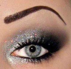 Silver glitter: