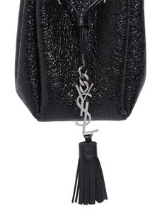 677f0072d73a SAINT LAURENT - YSL CRACKLED PATENT LEATHER BUCKET BAG - LUISAVIAROMA - LUXURY  SHOPPING WORLDWIDE SHIPPING