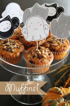 giochi di carta: muffins con zucca, farina di mais e... free printables!
