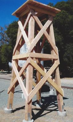 This is a tower/derrick for a windmill.  Very stout construction