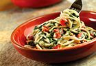 Campbell's Spaghetti with Parmesan Spinach Sauce Recipe