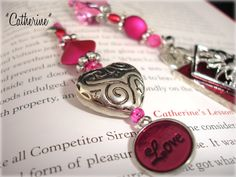 Designer Beaded Bookmark  Catherine by SassyBookBling on Etsy, $20.00