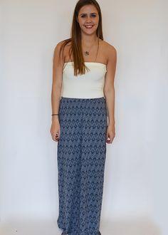Ikat Print Maxi Skirt $48