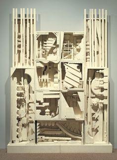 Whitney Museum of American Art: Louise Nevelson: Dawn's Wedding Chapel II, 1959 Louise Nevelson, Louise Bourgeois, Modern Sculpture, Wood Sculpture, Art Sculptures, Whitney Museum, Collages, Arts Ed, Assemblage Art