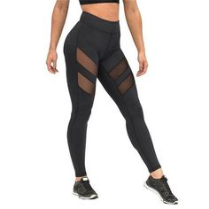 94627cd5af4b1 Women Leggings Mid Waist Hollow Out Yoga Pants Running Leggings, Sports  Leggings, Leggings Are
