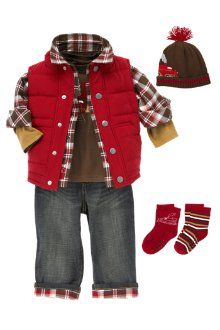 great outfit for cold weather sessions : ) Ace needs a red vest jacket. Cute