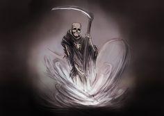 Death - Original Version by AndrewDobell on DeviantArt Grim Reaper Art, Don't Fear The Reaper, Original Version, Angel Of Death, Weird, Darth Vader, Deviantart, The Originals, Drawings