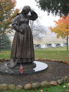 Historic Gettysburg, Pennsylvania - Elizabeth Thorn, her husband was away fighting in another part of the country when the fighting broke out at Gettysburg.  Seeing the amount of dead in the fields, she hand dug 91 graves for the fallen from both sides. She was 6 months pregnant.