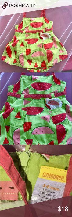 New Gymboree Girls Strawberry Summer 1 Piece Romper Outfi 0-3m 3-6m 6-12m 18-24m