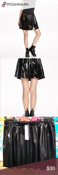 "Black High Shine Noisy May Maren Skater Skirt L Brand new with tags Noisy May Maren Skater Skirt Length: 17"" 60% polyester and 40% pu. Skirt in an imitation patent leather finish from NOISY MAY. Flared cut with elastic waist. High shine! Made of 60% Polyester and 40% PU. Noisy May Skirts"