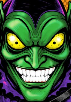 Green Goblin Portrait Commission by Thuddleston.deviantart.com on @deviantART