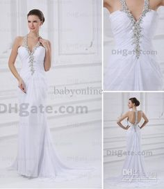Free shipping, $118.16/Piece:buy wholesale 2013 DHgate New Halter A Line Sleeveless Chapel Sequins Chiffon Summer Beach Wedding Dresses MGN105 from DHgate.com,get worldwide delivery and buyer protection service.