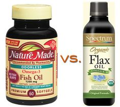 Omega-3 Competition: Fish Oil vs. Flaxseed Oil
