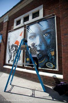 Artist Zina Street Art London, Blues Scale, Art Festival, Street Artists, Norway, Past, Novels, Female Artist, Jamaica